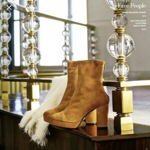Free People Day For Night Suede Platform Boots 40